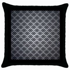 Silver The Background Throw Pillow Case (black)