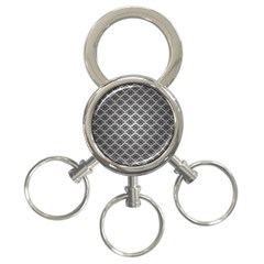 Silver The Background 3 Ring Key Chains