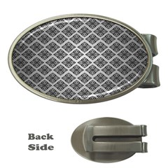 Silver The Background Money Clips (Oval)