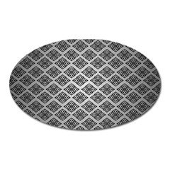 Silver The Background Oval Magnet