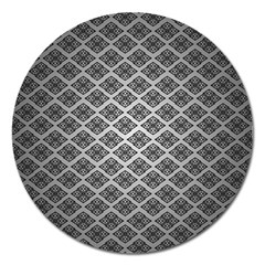Silver The Background Magnet 5  (round)