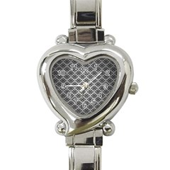 Silver The Background Heart Italian Charm Watch