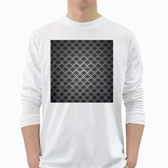 Silver The Background White Long Sleeve T Shirts