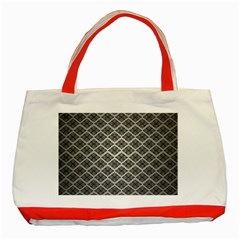 Silver The Background Classic Tote Bag (red)