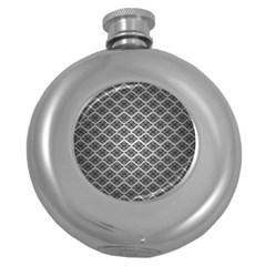 Silver The Background Round Hip Flask (5 Oz)