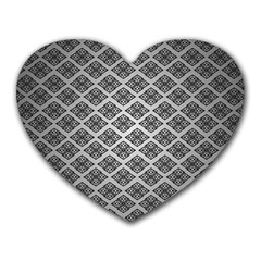 Silver The Background Heart Mousepads