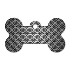 Silver The Background Dog Tag Bone (two Sides)