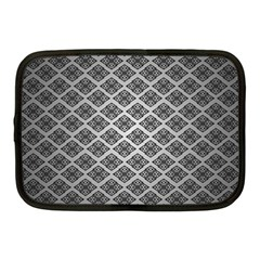 Silver The Background Netbook Case (medium)