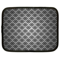 Silver The Background Netbook Case (xl)