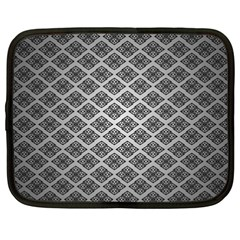 Silver The Background Netbook Case (xxl)