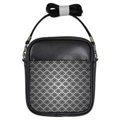 Silver The Background Girls Sling Bags