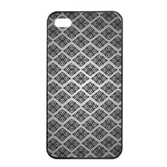 Silver The Background Apple Iphone 4/4s Seamless Case (black)