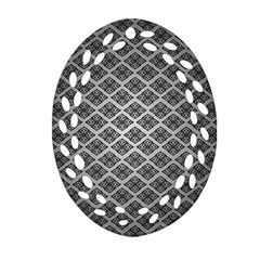 Silver The Background Ornament (oval Filigree)