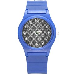 Silver The Background Round Plastic Sport Watch (s)