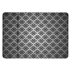 Silver The Background Samsung Galaxy Tab 8 9  P7300 Flip Case