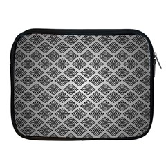 Silver The Background Apple Ipad 2/3/4 Zipper Cases