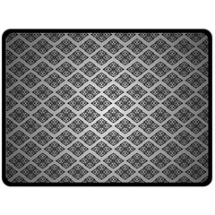 Silver The Background Double Sided Fleece Blanket (large)