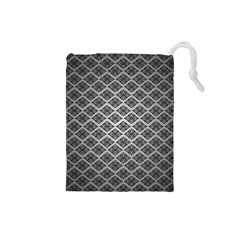 Silver The Background Drawstring Pouches (small)