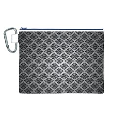 Silver The Background Canvas Cosmetic Bag (l)