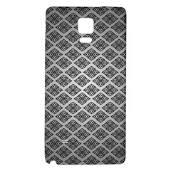 Silver The Background Galaxy Note 4 Back Case