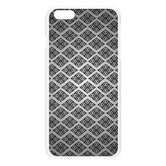 Silver The Background Apple Seamless iPhone 6 Plus/6S Plus Case (Transparent)