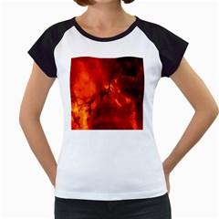 Star Clusters Rosette Nebula Star Women s Cap Sleeve T