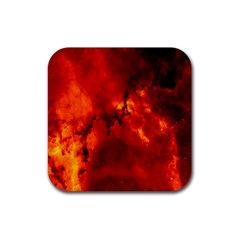Star Clusters Rosette Nebula Star Rubber Square Coaster (4 pack)