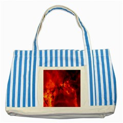 Star Clusters Rosette Nebula Star Striped Blue Tote Bag