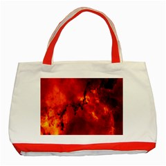 Star Clusters Rosette Nebula Star Classic Tote Bag (red)