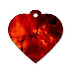 Star Clusters Rosette Nebula Star Dog Tag Heart (two Sides)
