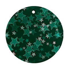 Star Seamless Tile Background Abstract Ornament (round)