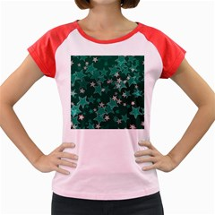 Star Seamless Tile Background Abstract Women s Cap Sleeve T Shirt