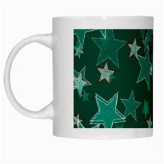 Star Seamless Tile Background Abstract White Mugs