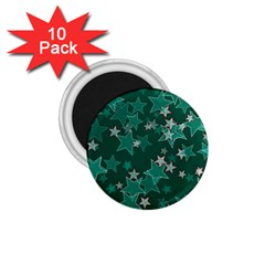 Star Seamless Tile Background Abstract 1 75  Magnets (10 Pack)