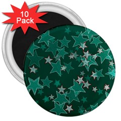 Star Seamless Tile Background Abstract 3  Magnets (10 pack)