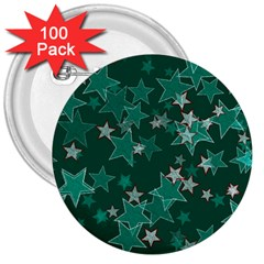 Star Seamless Tile Background Abstract 3  Buttons (100 Pack)