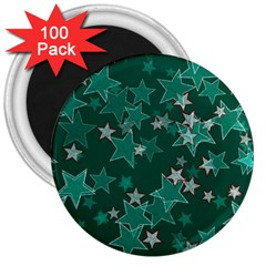 Star Seamless Tile Background Abstract 3  Magnets (100 Pack)