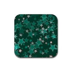 Star Seamless Tile Background Abstract Rubber Square Coaster (4 Pack)