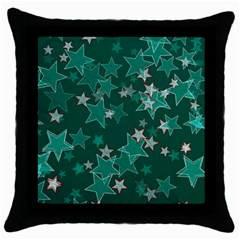 Star Seamless Tile Background Abstract Throw Pillow Case (black)