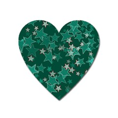 Star Seamless Tile Background Abstract Heart Magnet