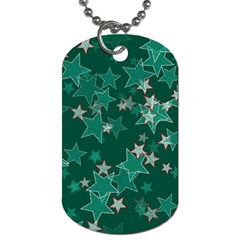 Star Seamless Tile Background Abstract Dog Tag (One Side)