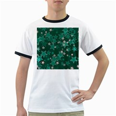 Star Seamless Tile Background Abstract Ringer T Shirts