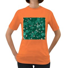 Star Seamless Tile Background Abstract Women s Dark T Shirt