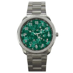Star Seamless Tile Background Abstract Sport Metal Watch