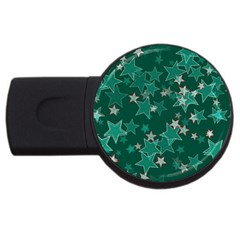 Star Seamless Tile Background Abstract Usb Flash Drive Round (4 Gb)