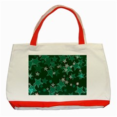 Star Seamless Tile Background Abstract Classic Tote Bag (red)