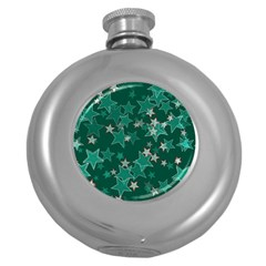 Star Seamless Tile Background Abstract Round Hip Flask (5 Oz)