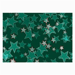 Star Seamless Tile Background Abstract Large Glasses Cloth (2 Side)