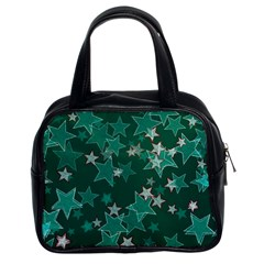 Star Seamless Tile Background Abstract Classic Handbags (2 Sides)