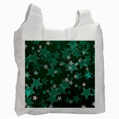 Star Seamless Tile Background Abstract Recycle Bag (one Side)